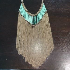 💠GORGEOUS STATEMENT NECKLACE💠 gold fringe chain